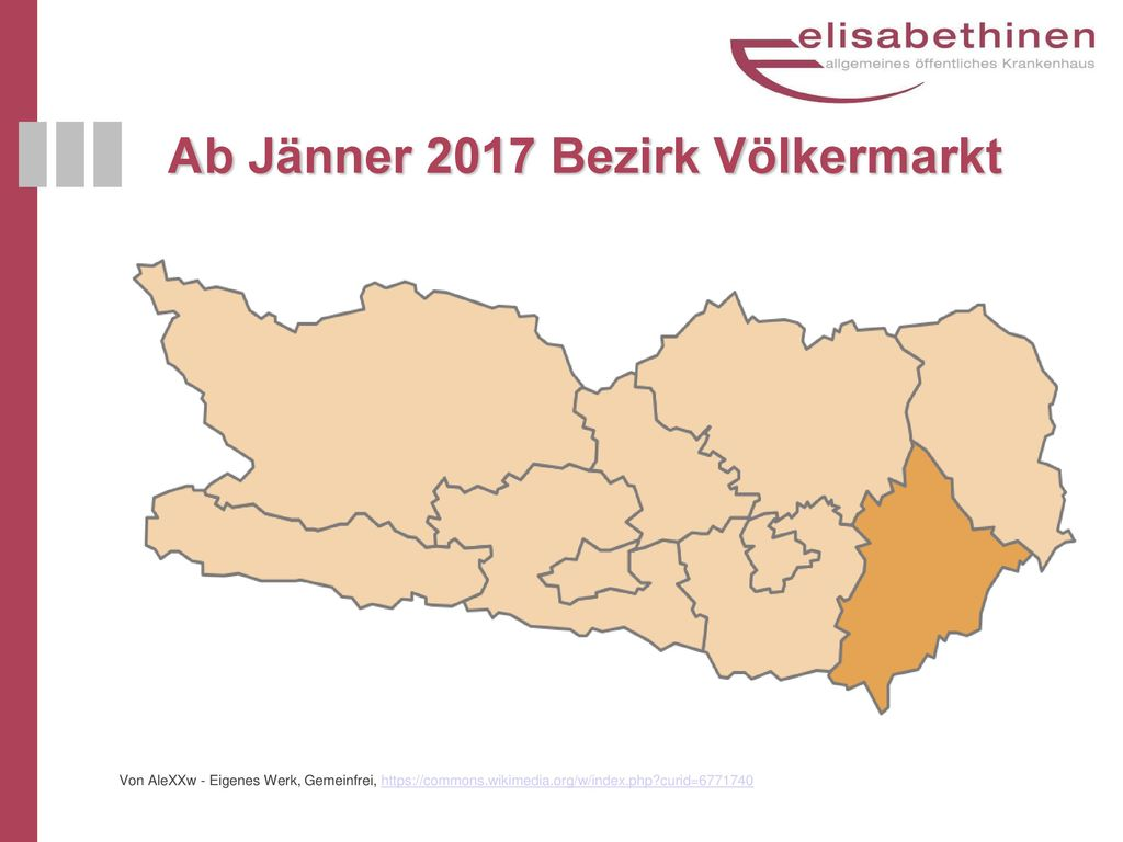 Ab Jänner 2017 Bezirk Völkermarkt