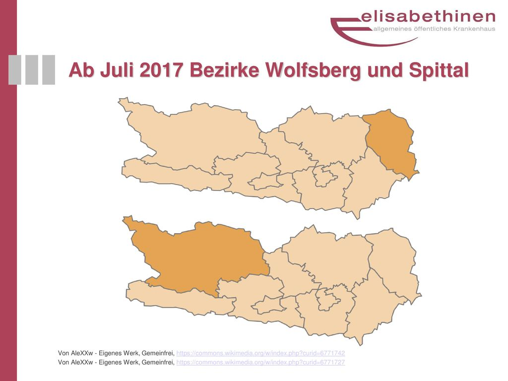 Ab Juli 2017 Bezirke Wolfsberg und Spittal