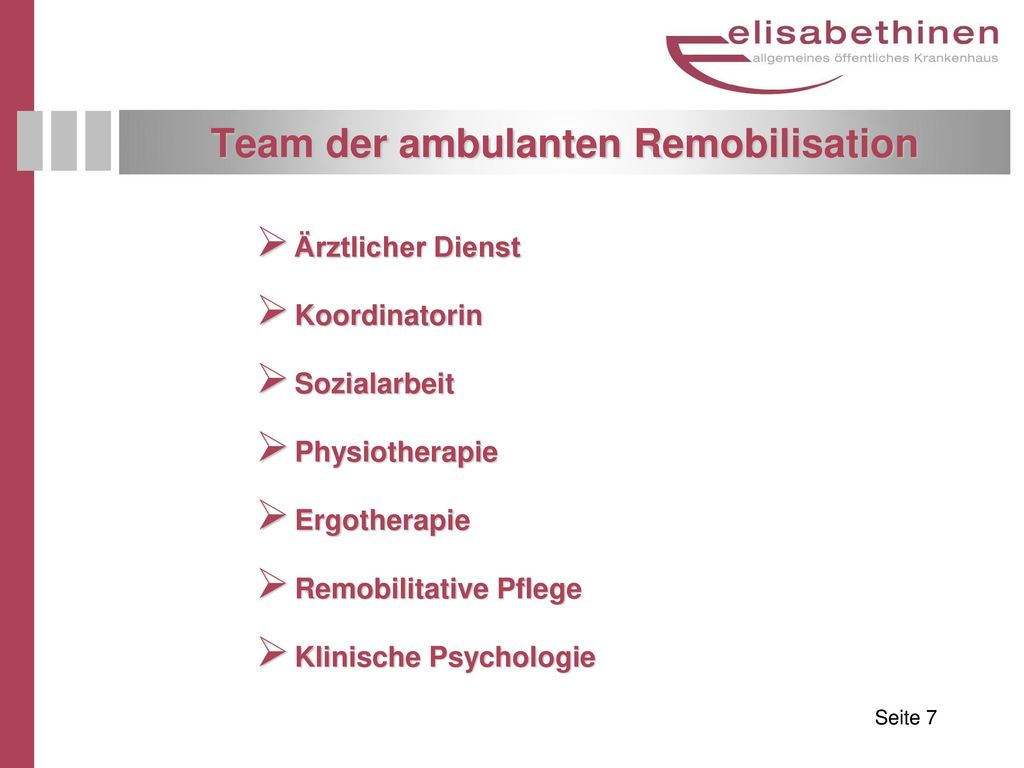 Team der ambulanten Remobilisation