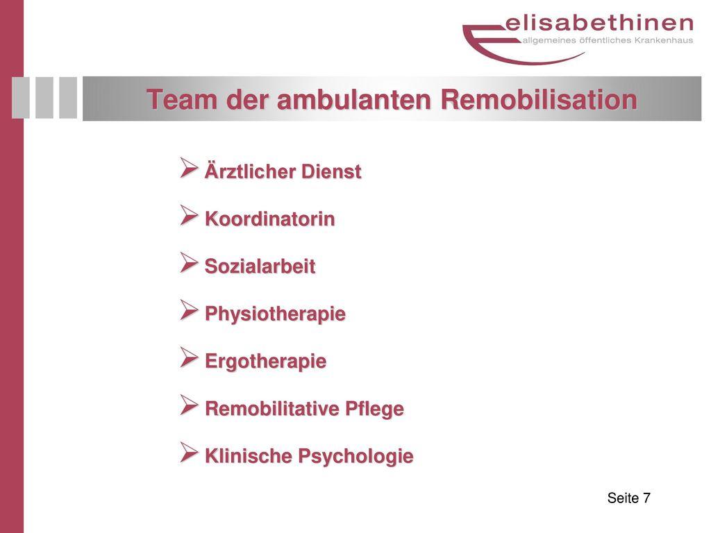 Team der ambulanten Remobilisation