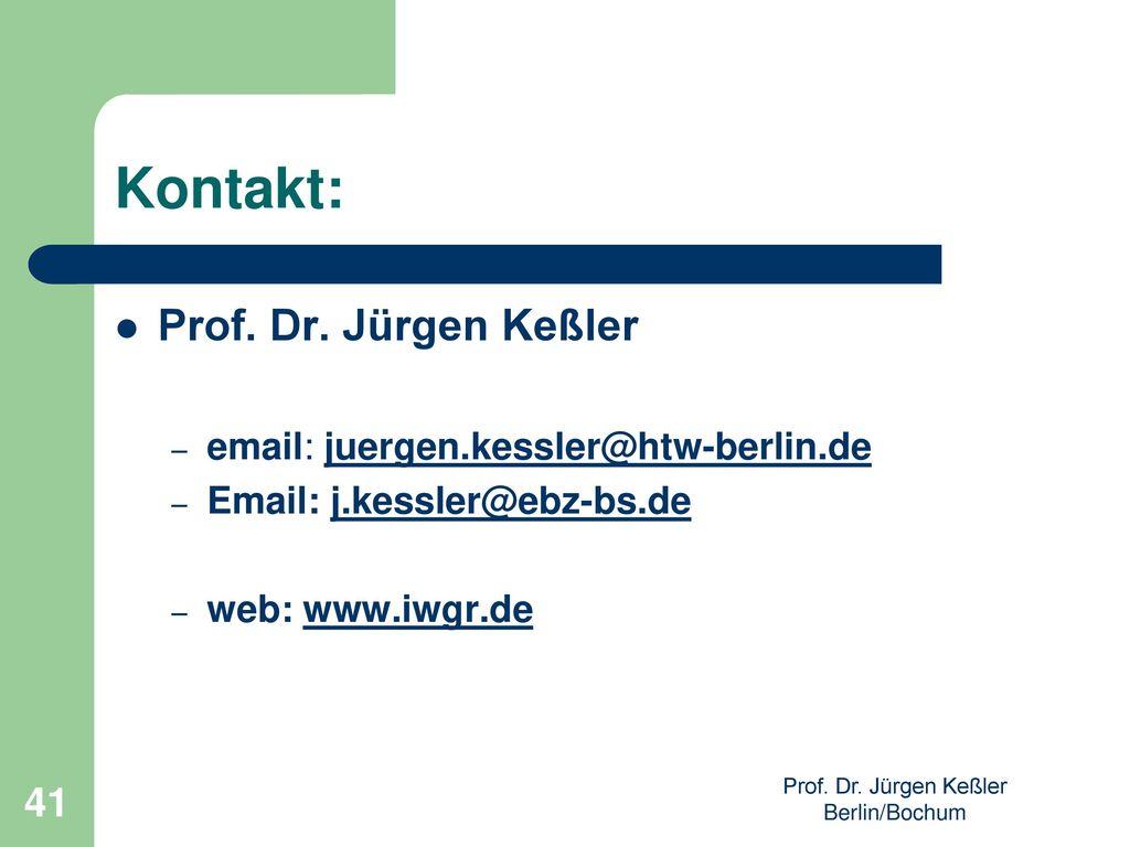 Prof. Dr. Jürgen Keßler Berlin/Bochum