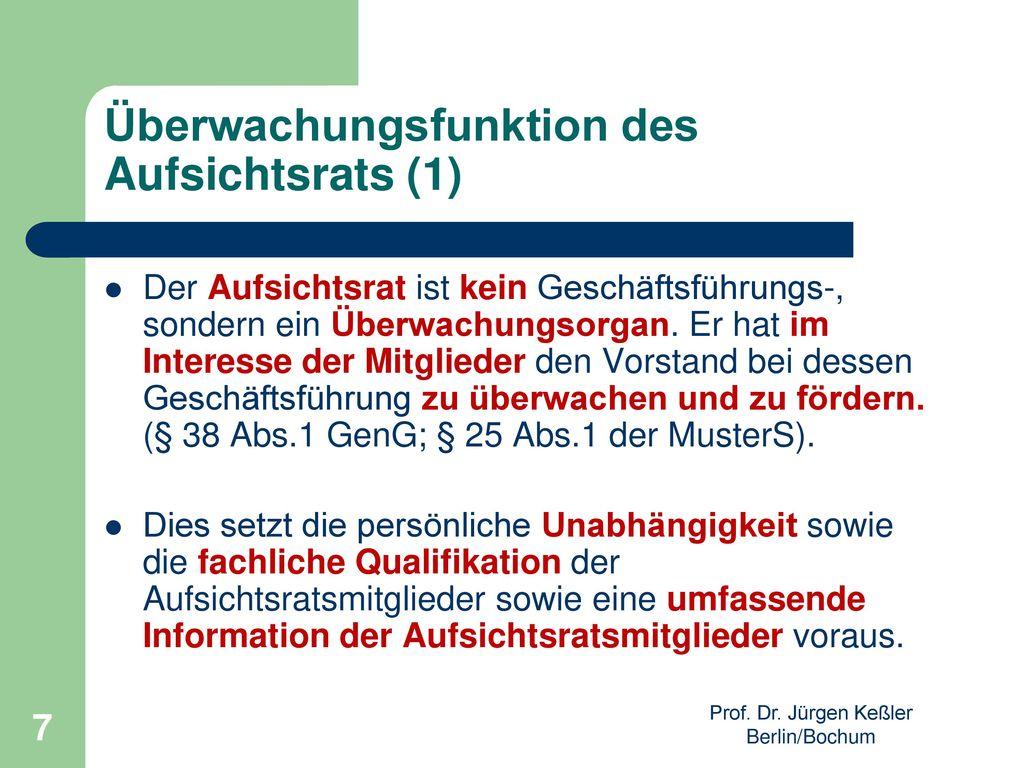 Überwachungsfunktion des Aufsichtsrats (1)