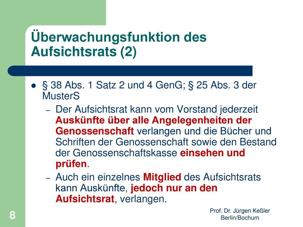 Überwachungsfunktion des Aufsichtsrats (2)