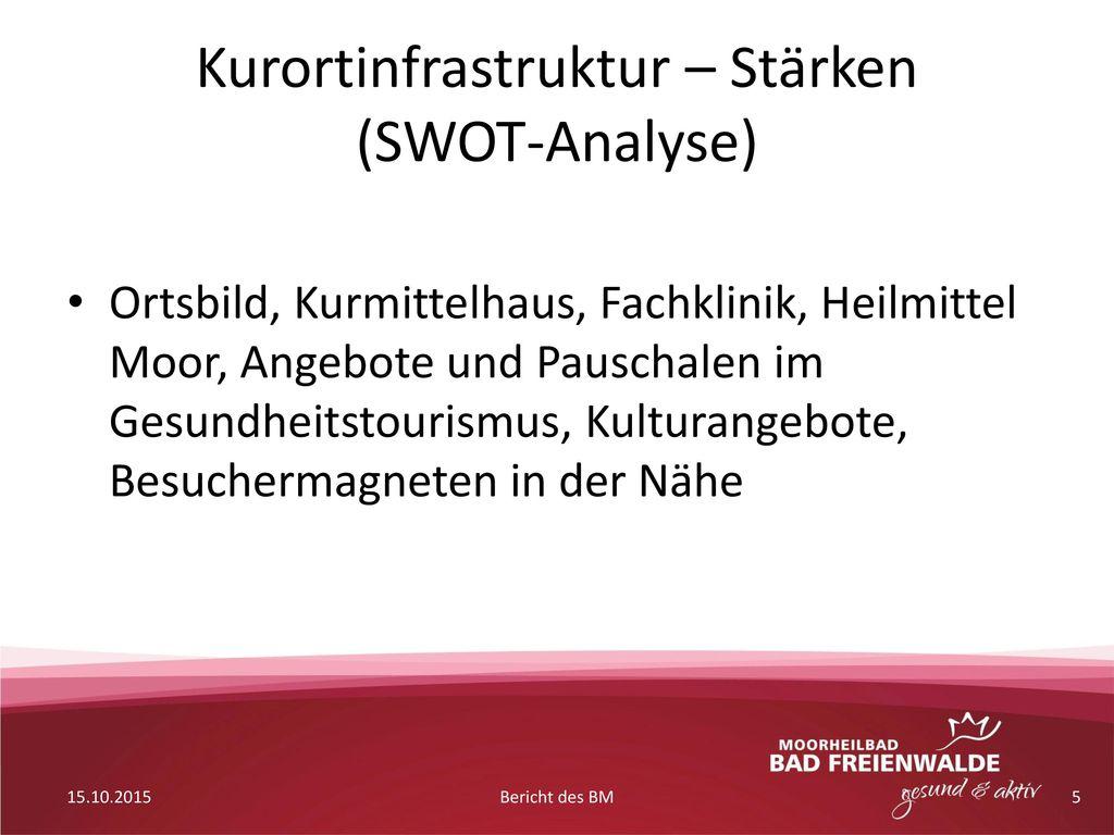 Kurortinfrastruktur – Stärken (SWOT-Analyse)