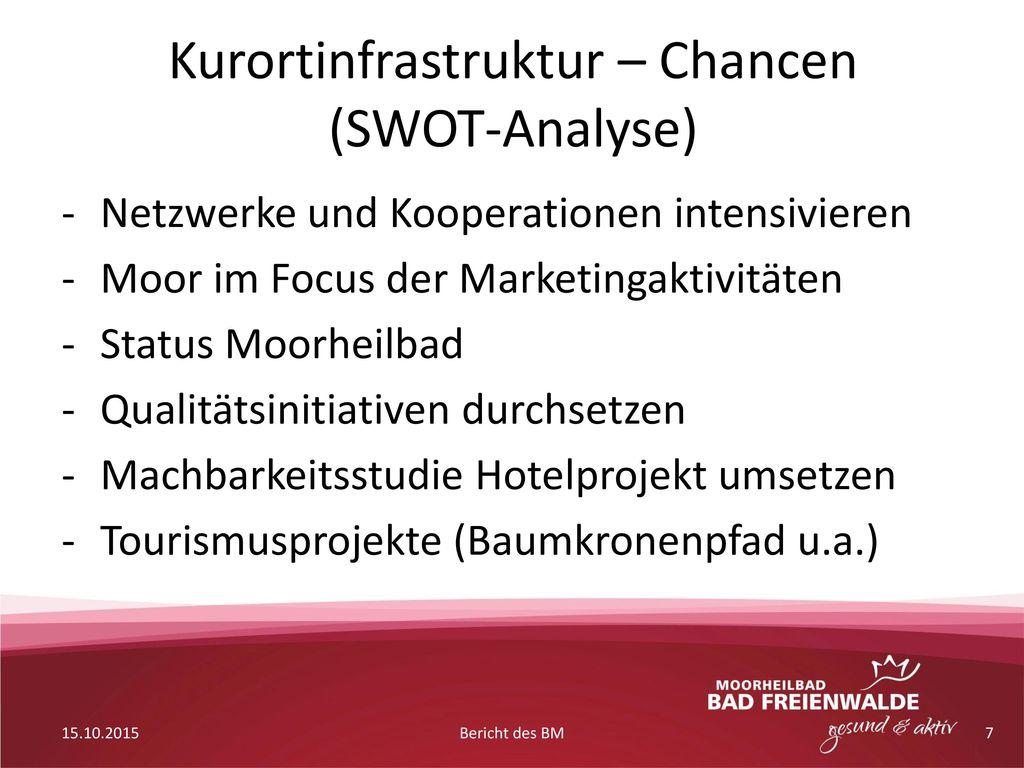 Kurortinfrastruktur – Chancen (SWOT-Analyse)