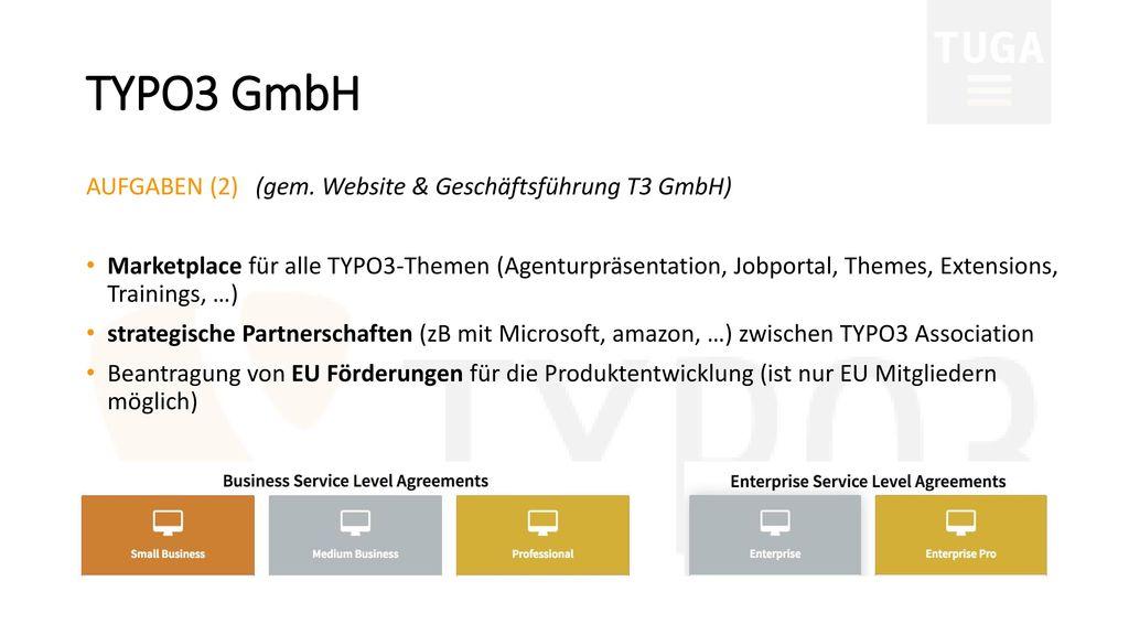 TYPO3 GmbH AUFGABEN (2) (gem. Website & Geschäftsführung T3 GmbH)