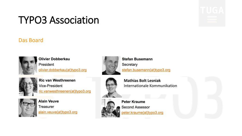 TYPO3 Association Das Board Mathias Bolt Lesniak