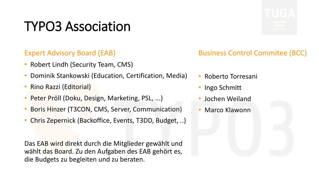 TYPO3 Association Expert Advisory Board (EAB)