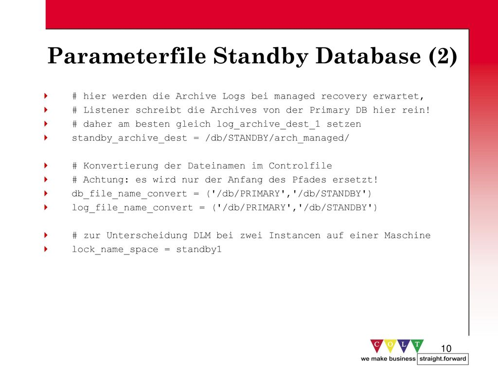 Parameterfile Standby Database (2)