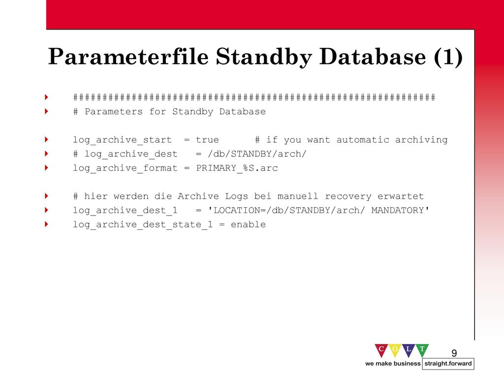 Parameterfile Standby Database (1)