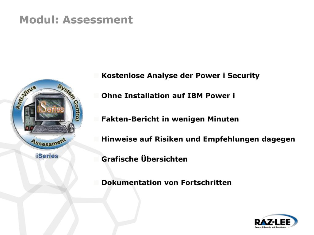 Modul: Assessment Kostenlose Analyse der Power i Security
