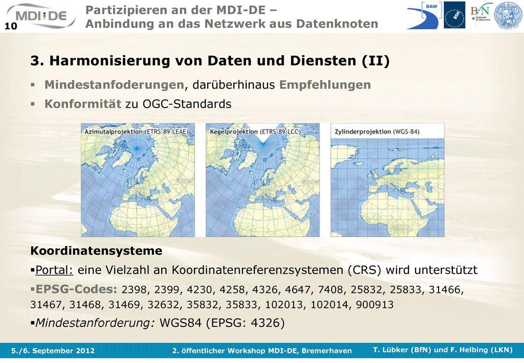 3. Harmonisierung von Daten und Diensten (II)