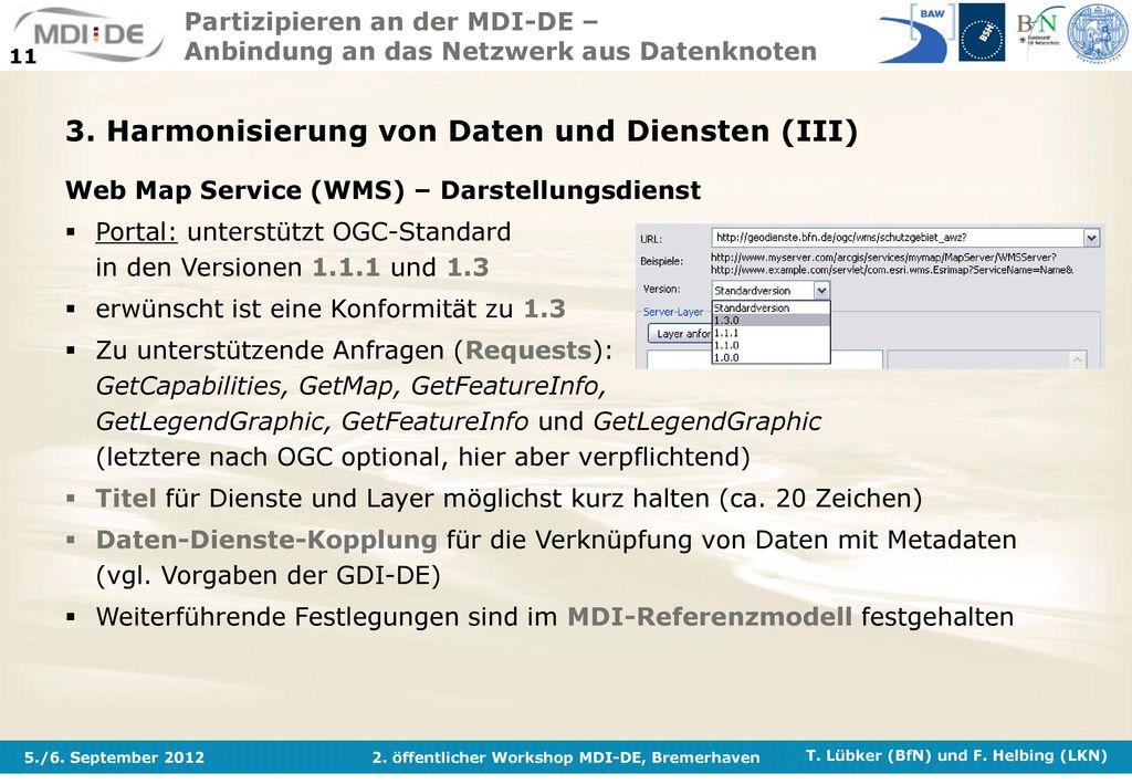 3. Harmonisierung von Daten und Diensten (III)