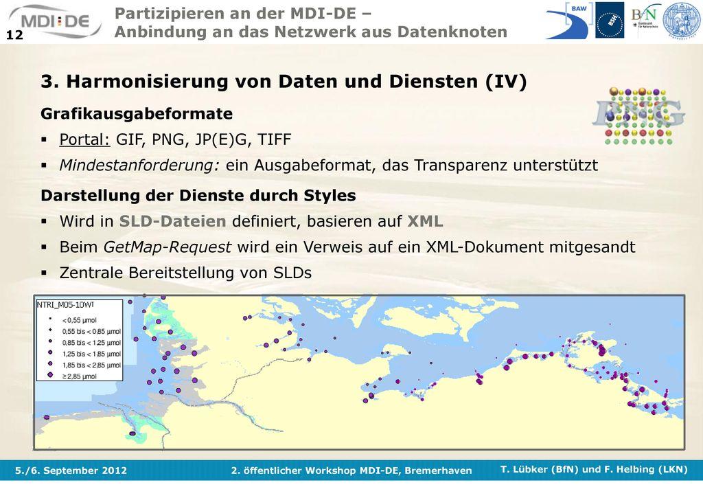 3. Harmonisierung von Daten und Diensten (IV)