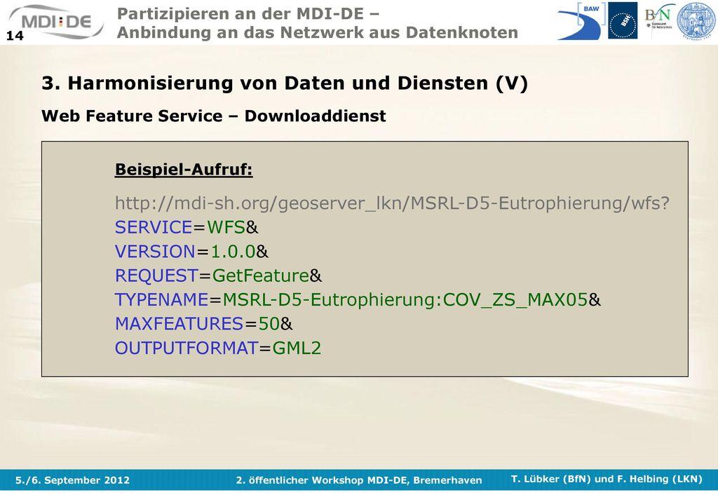 3. Harmonisierung von Daten und Diensten (V)