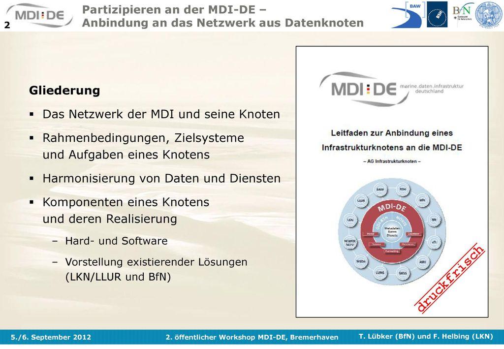 Das Netzwerk der MDI und seine Knoten