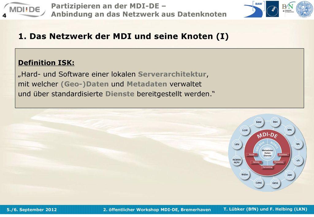 1. Das Netzwerk der MDI und seine Knoten (I)