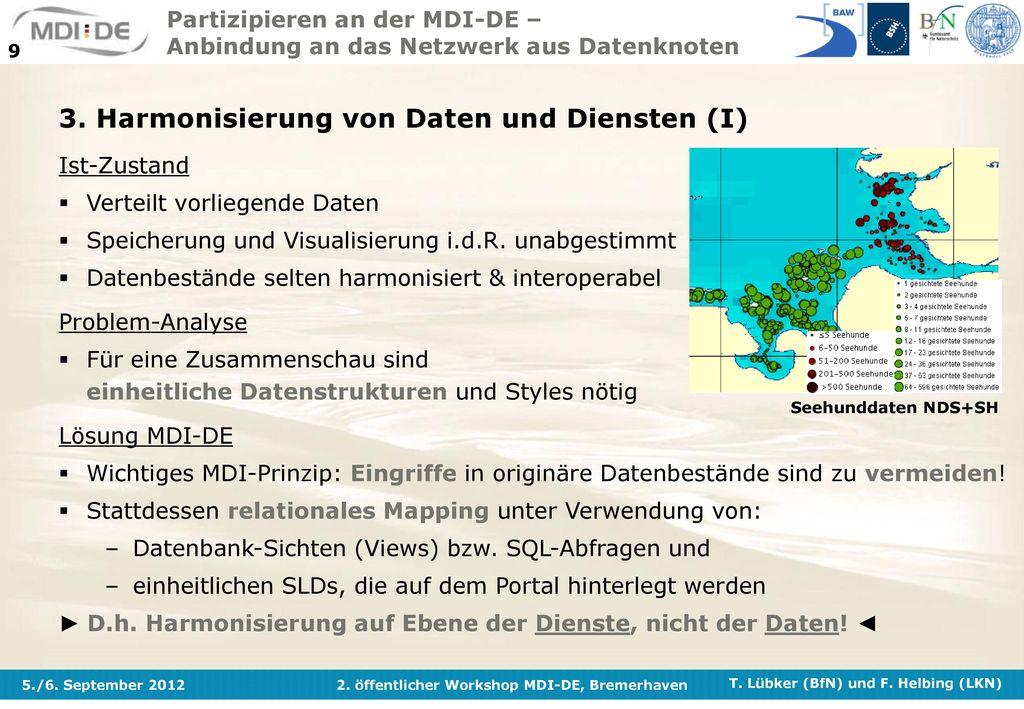 3. Harmonisierung von Daten und Diensten (I)