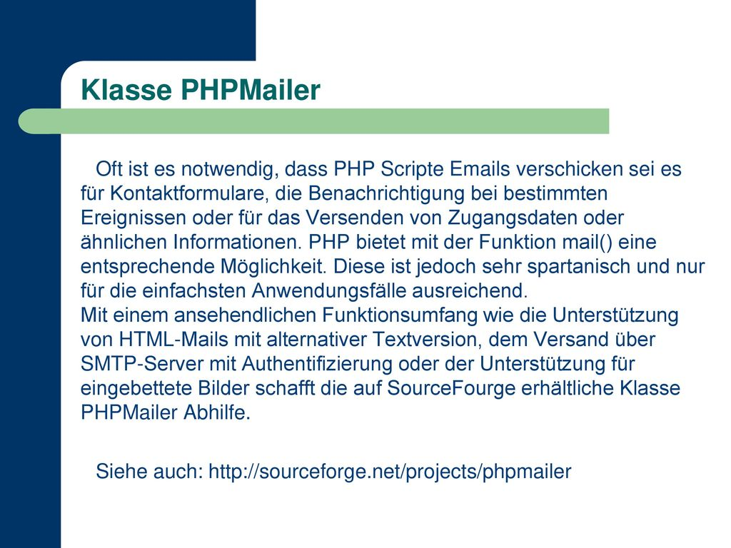 Klasse PHPMailer