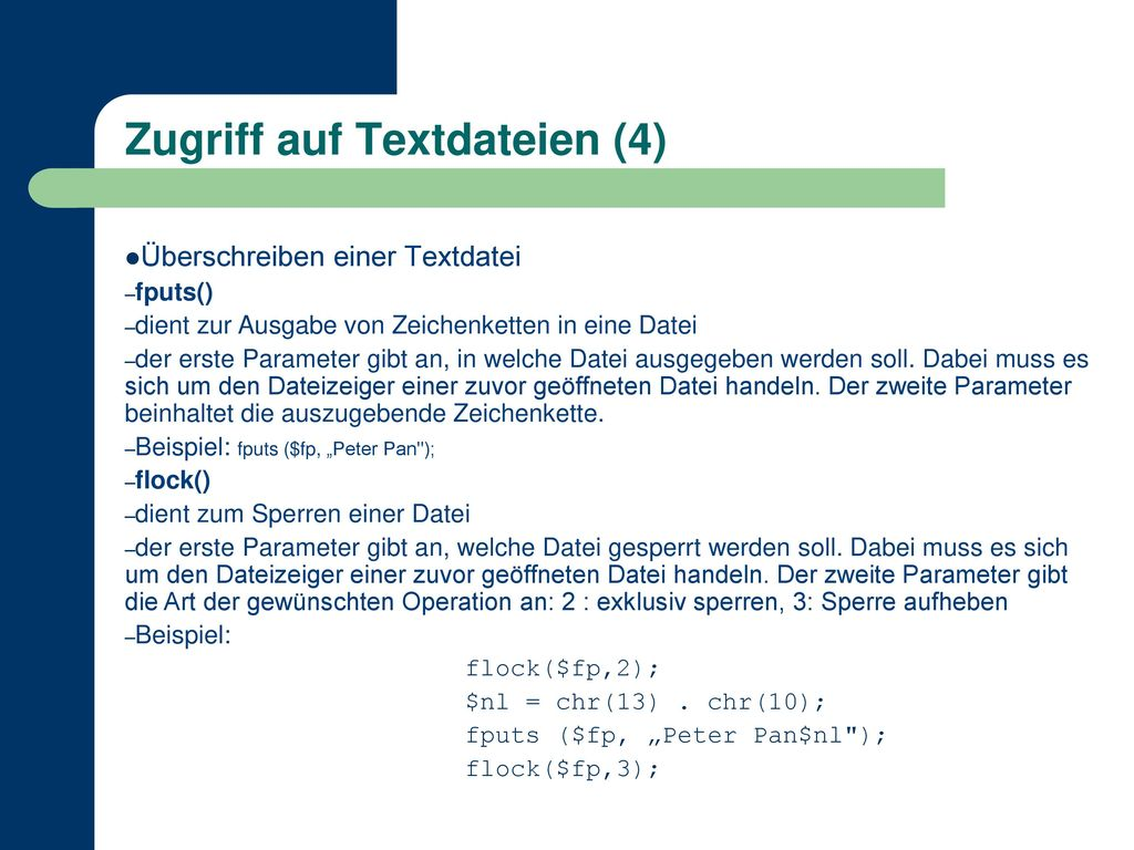 Zugriff auf Textdateien (4)