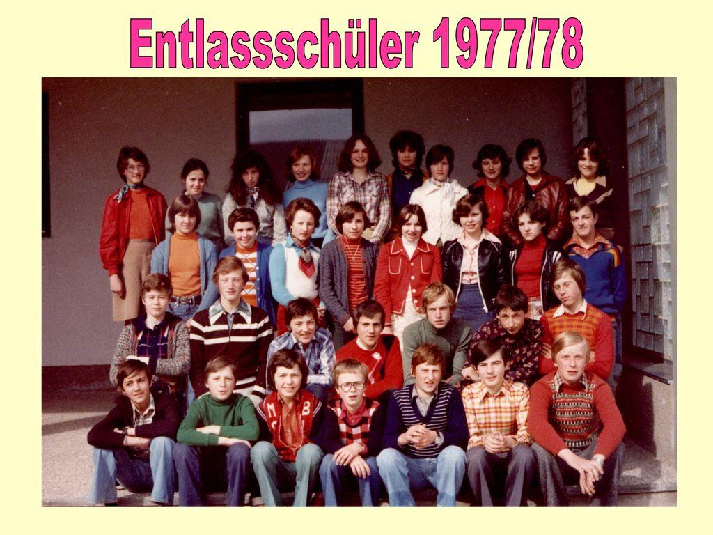 Entlassschüler 1977/78