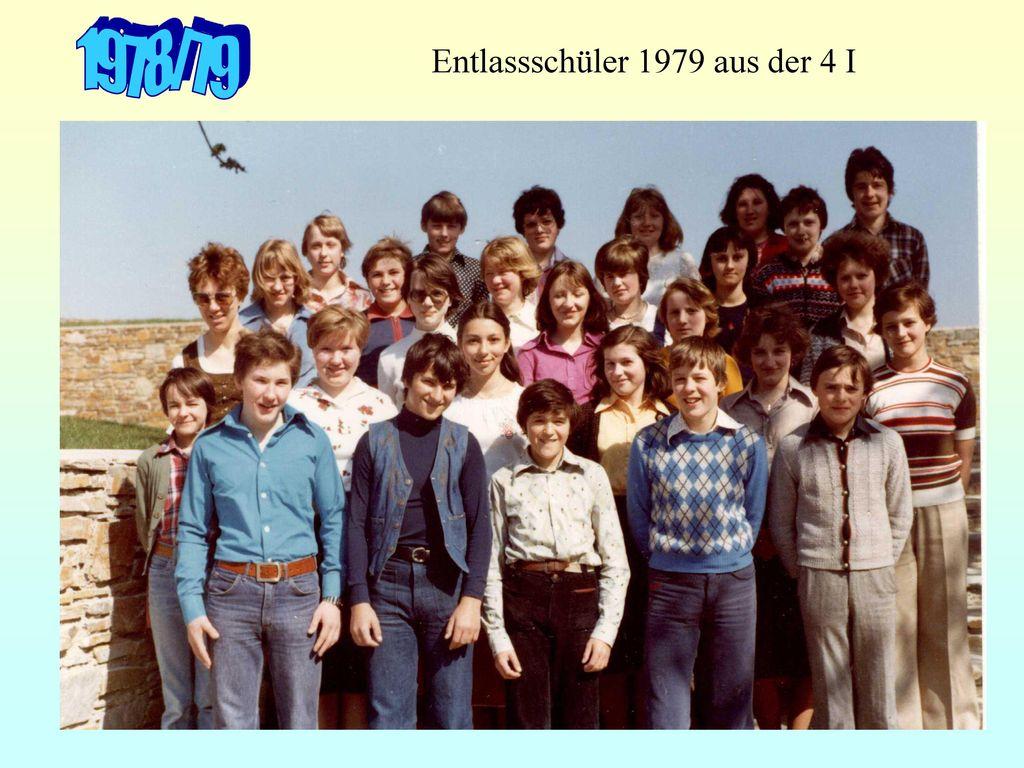 Entlassschüler 1979 aus der 4 I