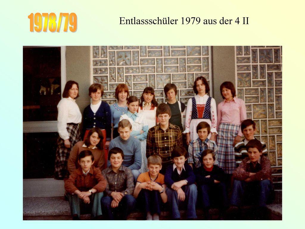 Entlassschüler 1979 aus der 4 II