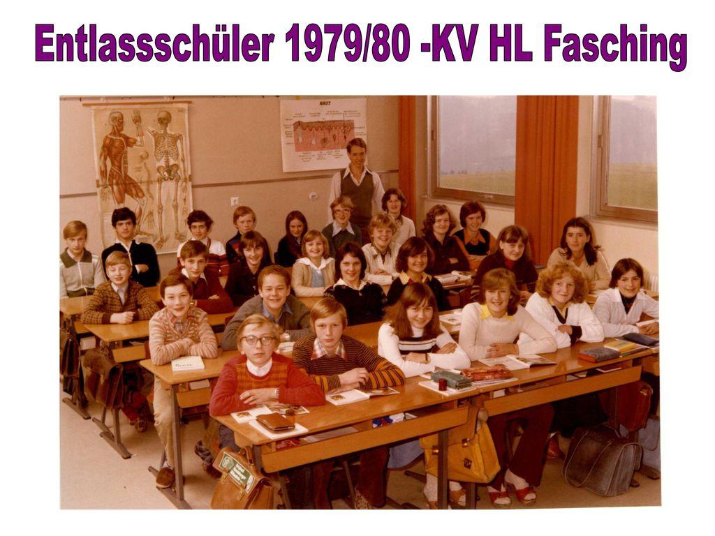 Entlassschüler 1979/80 -KV HL Fasching