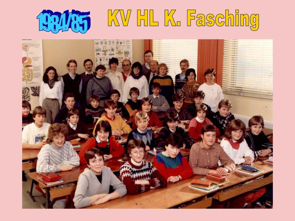 KV HL K. Fasching 1984/85