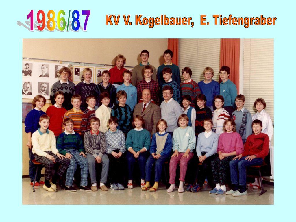 KV V. Kogelbauer, E. Tiefengraber
