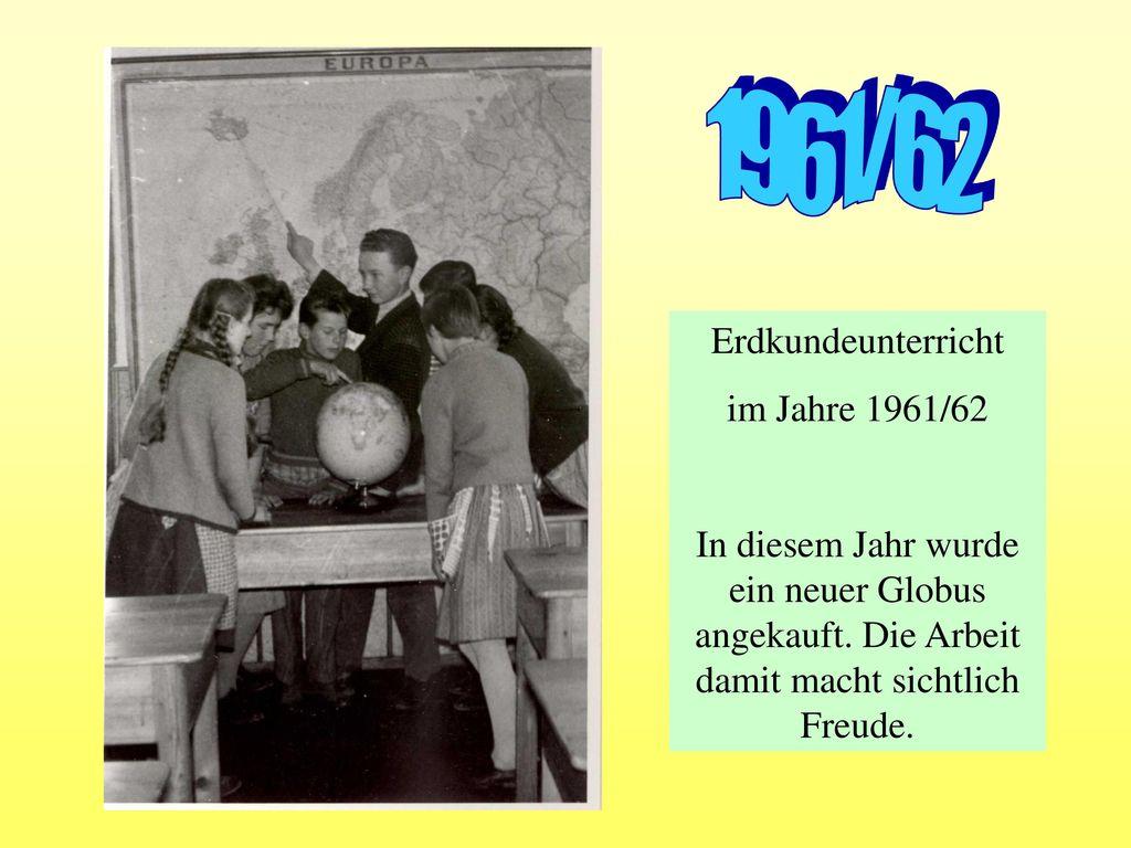 1961/62 Erdkundeunterricht im Jahre 1961/62