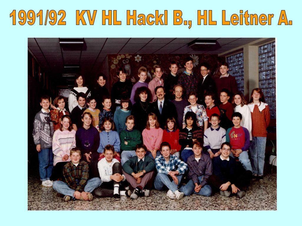 1991/92 KV HL Hackl B., HL Leitner A.