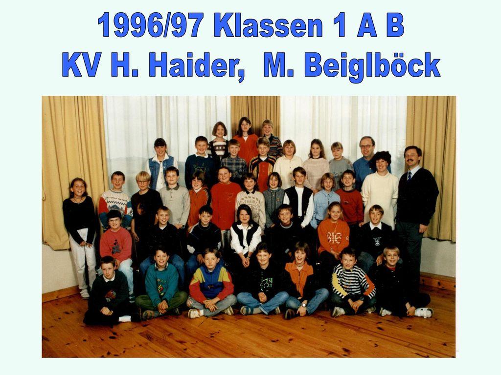 1996/97 Klassen 1 A B KV H. Haider, M. Beiglböck