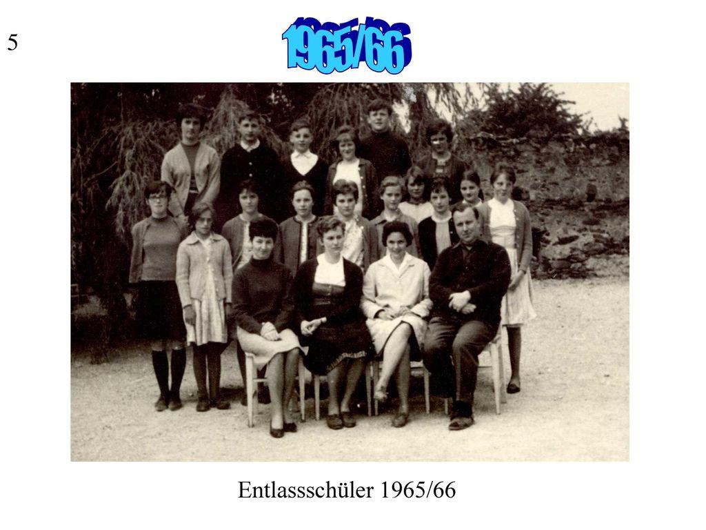 5 1965/66 Entlassschüler 1965/66
