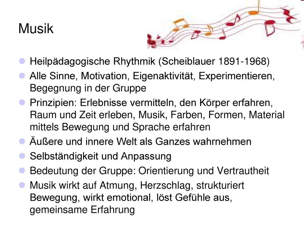 Musik Heilpädagogische Rhythmik (Scheiblauer 1891-1968)