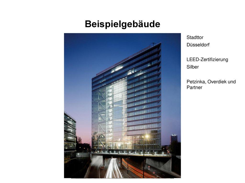 Beispielgebäude Stadttor Düsseldorf LEED-Zertifizierung Silber