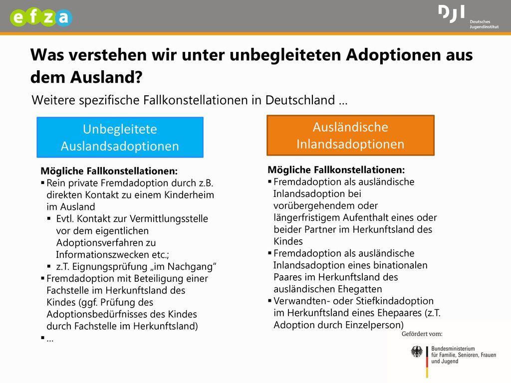 Was verstehen wir unter unbegleiteten Adoptionen aus dem Ausland