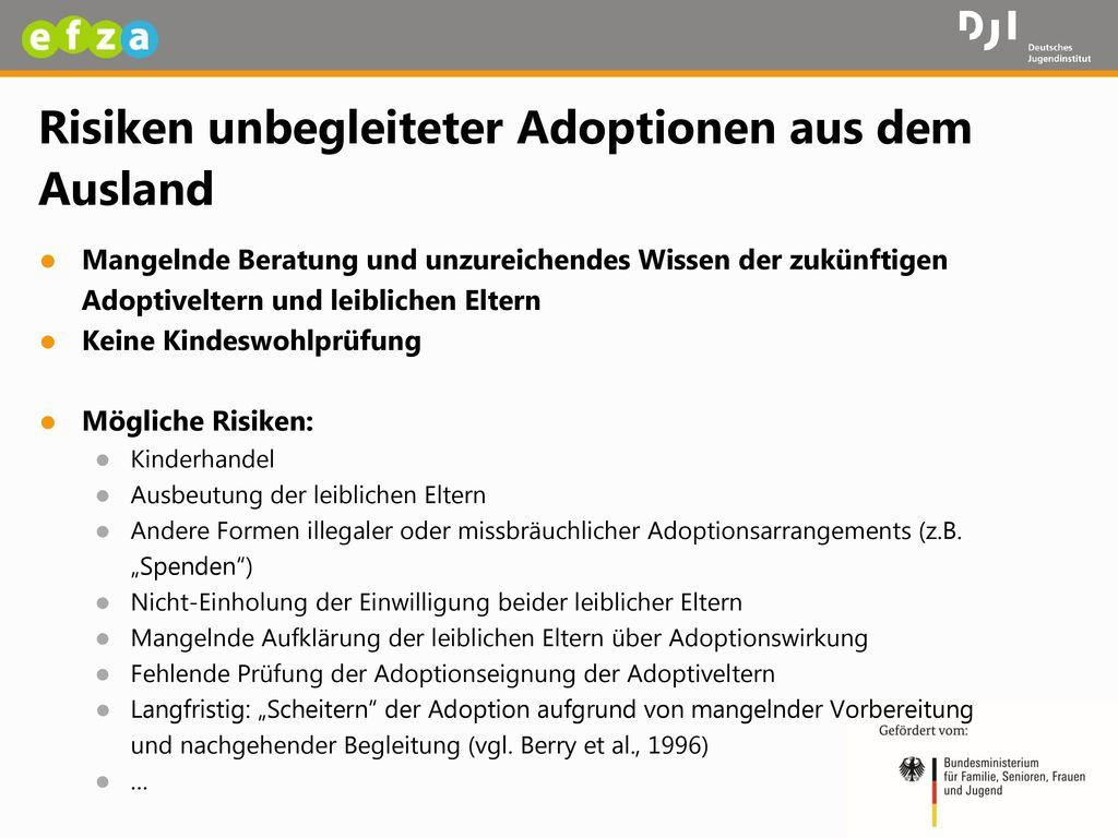 Risiken unbegleiteter Adoptionen aus dem Ausland
