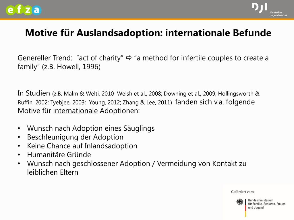 Motive für Auslandsadoption: internationale Befunde