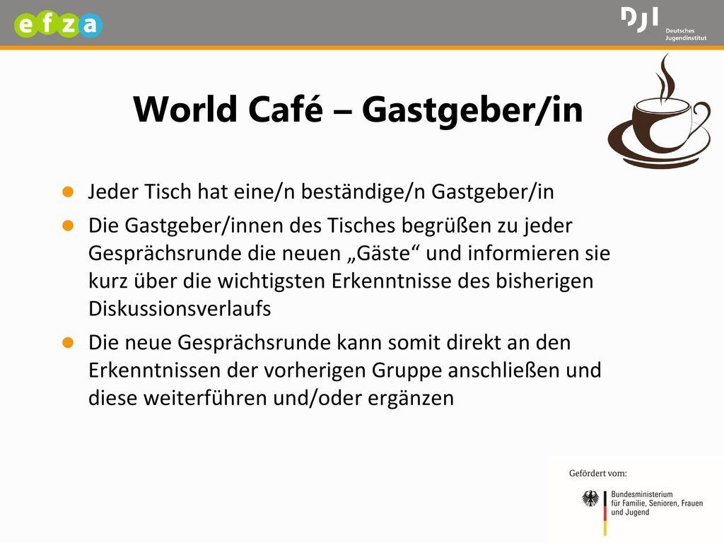 World Café – Gastgeber/in