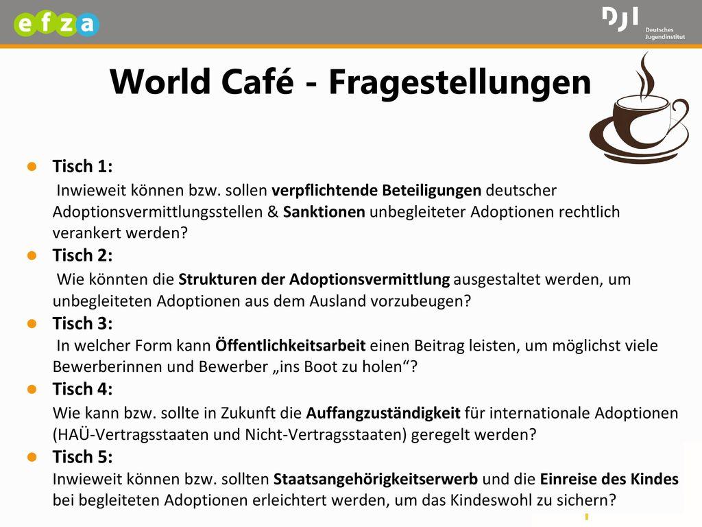 World Café - Fragestellungen