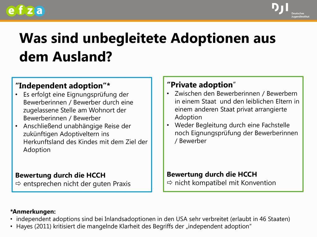 Was sind unbegleitete Adoptionen aus dem Ausland