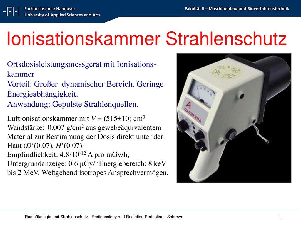 Ionisationskammer Strahlenschutz