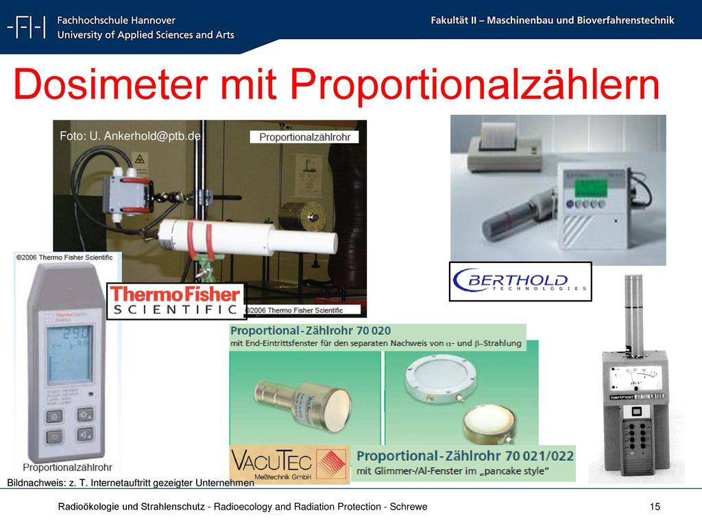 Dosimeter mit Proportionalzählern
