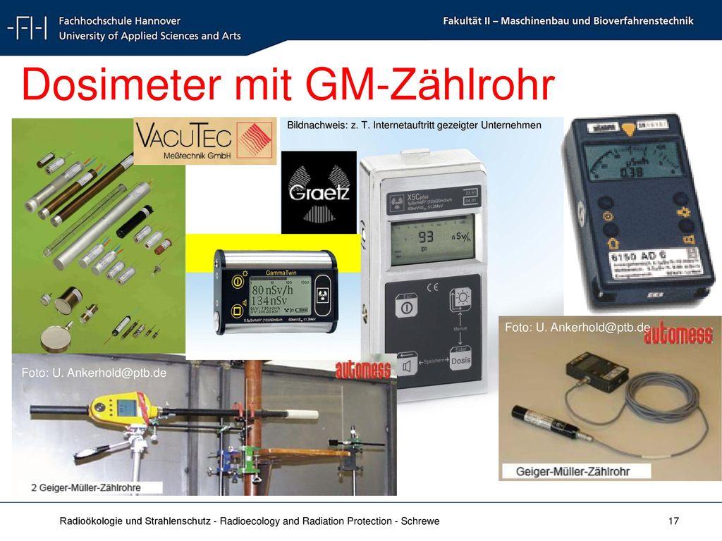 Dosimeter mit GM-Zählrohr