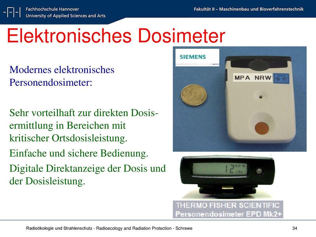 Elektronisches Dosimeter