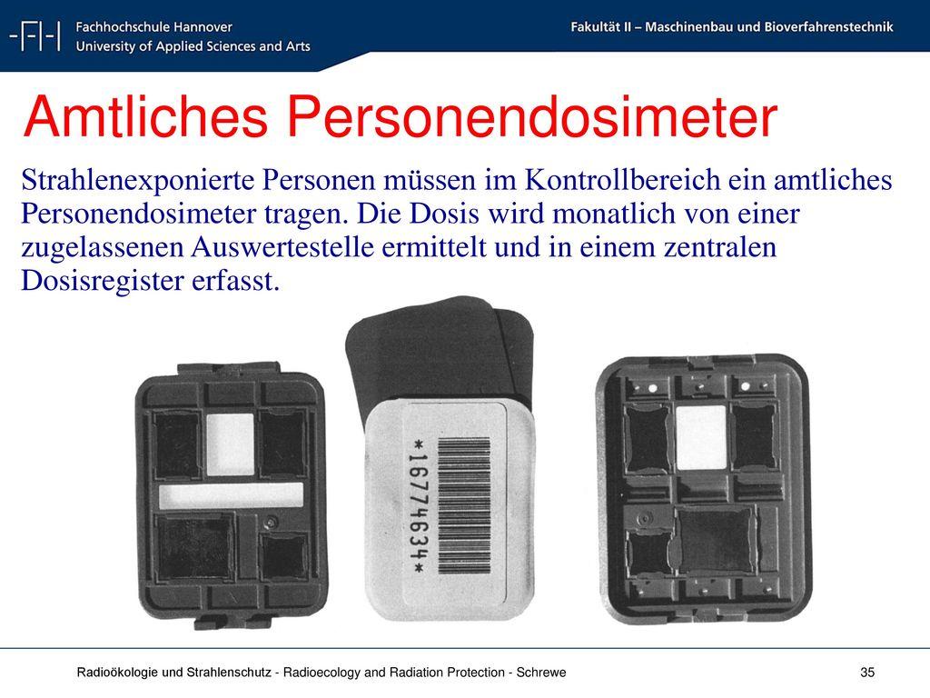 Amtliches Personendosimeter