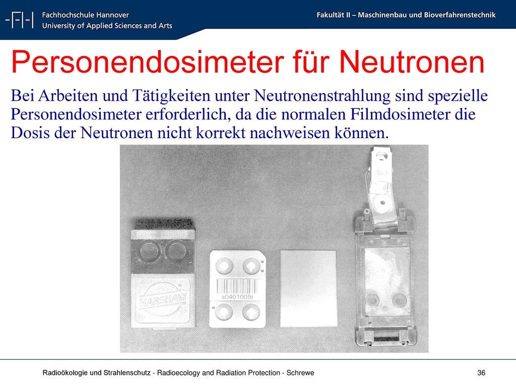 Personendosimeter für Neutronen