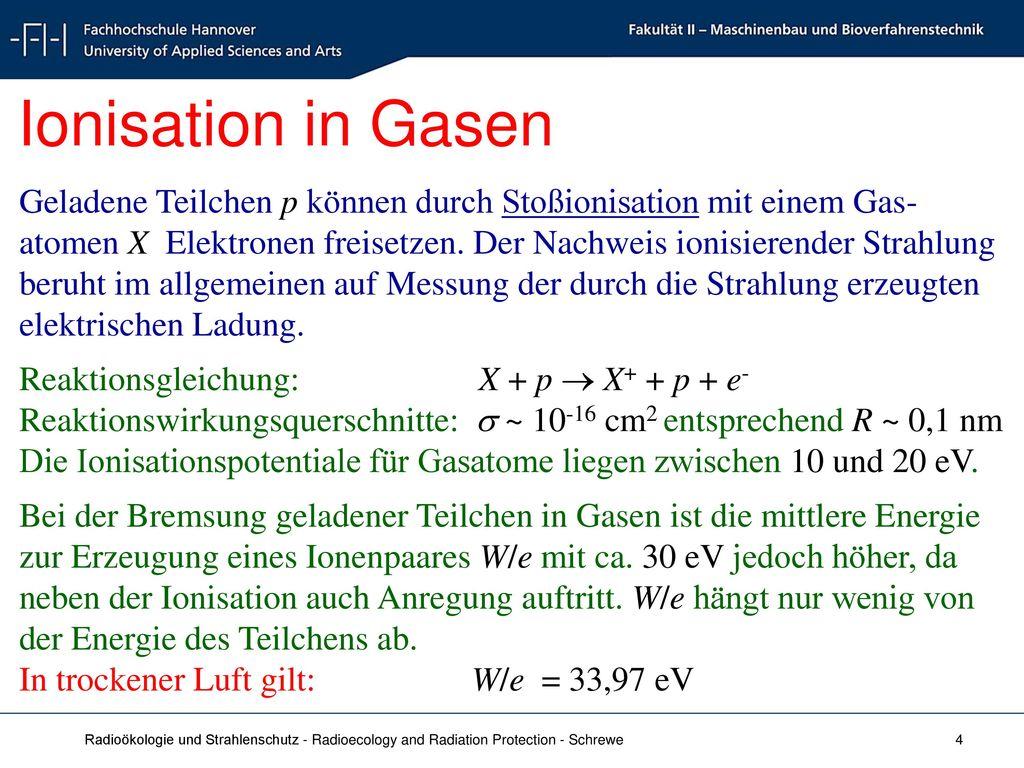 Ionisation in Gasen