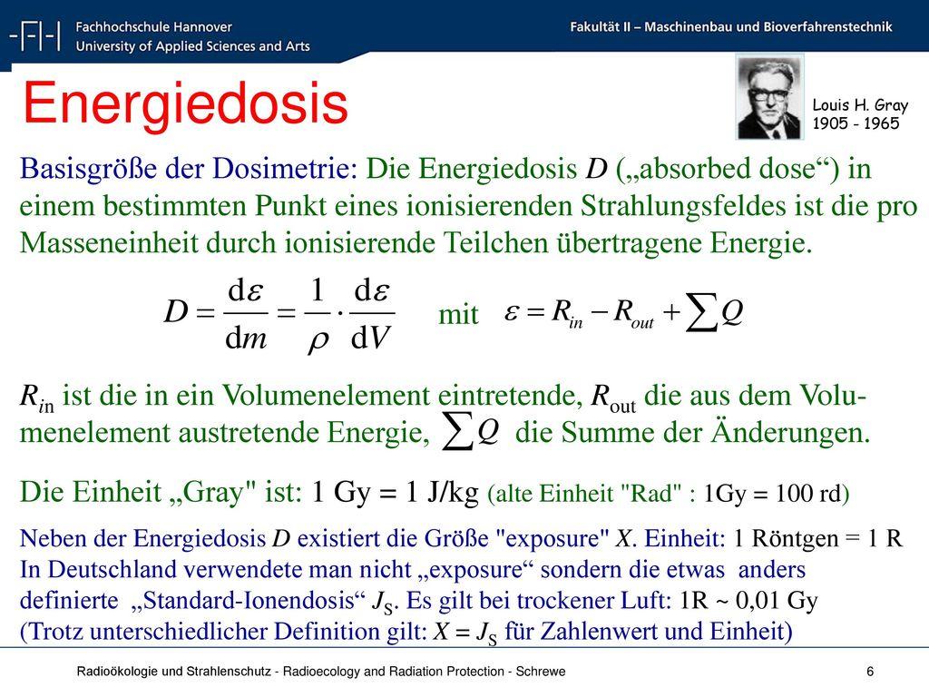 Energiedosis Louis H. Gray. 1905 - 1965.